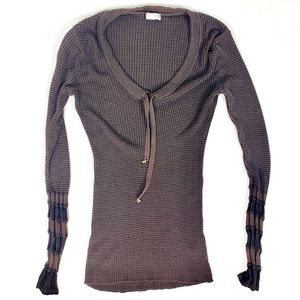 Cache Waffle Knit Long Sleeve Soft Thermal